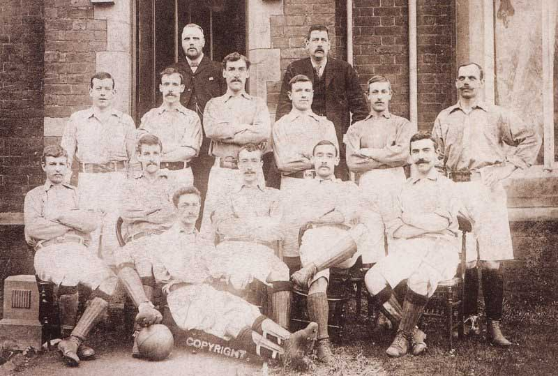 Everton 1897 squad - Arridge second row second from right