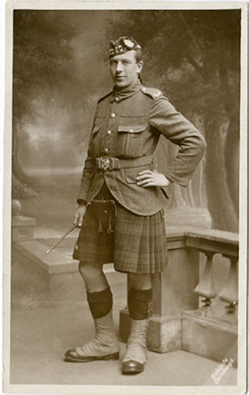 James Roy in the uniform of the Royal Scots