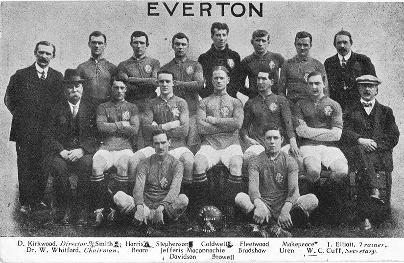 Everton's team in 1912