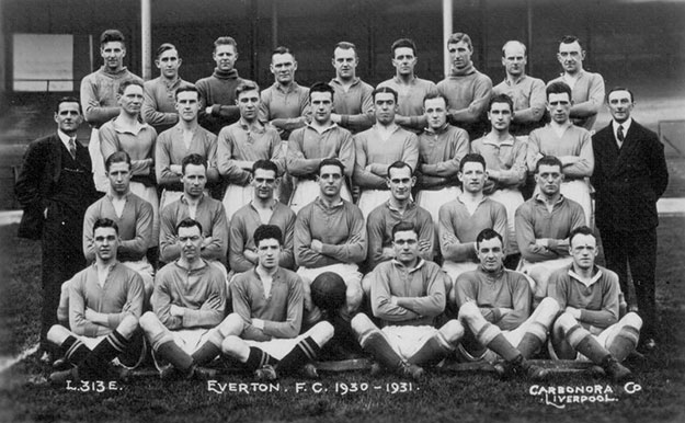 Everton team photo in 1930 New arrivals Gee and Britton next to Dixie Dean  (Photo courtesy Britton family)