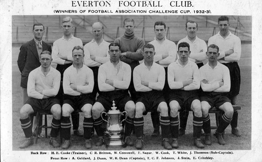 Everton's 1933 FA Cup winning team