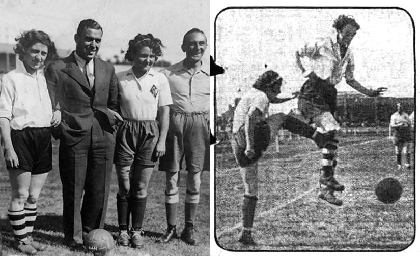 English Ladies against French Ladies, 1935