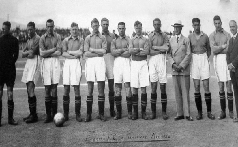 On tour in Tenerife 1934. Jimmy Cunliffe is 5th from left.