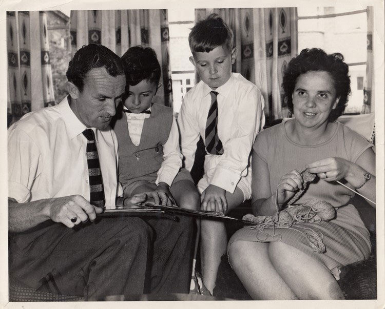 Tommy Eglington with family
