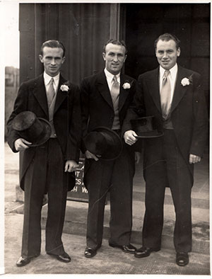 Tommy Eglington's wedding day in 1950