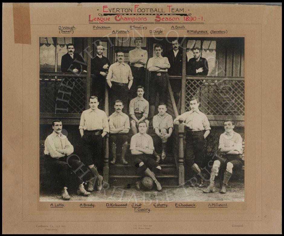 Everton's 1890-91 Championship-winning team