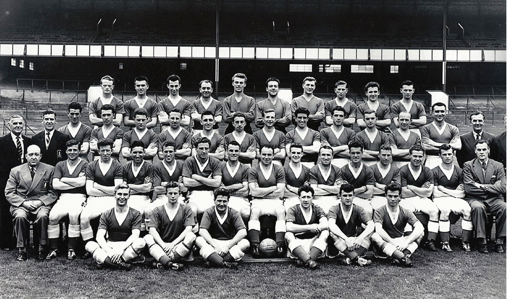 Graham Williams and the Everton team