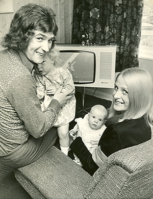 Colin, Maureen, Joanna and Melanie in 1972
