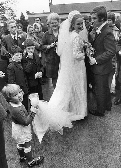 Colin and Maureen Harvey on their wedding day