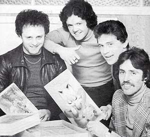 Mick Heaton John Bailey Bobby Mitchell and John Wadington in 1977