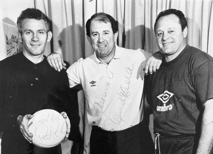 Peter Reid, Howard Kendall and Mick Heaton at Manchester City in 1990