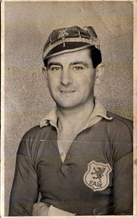 Jack Humphreys in Welsh cap and shirt