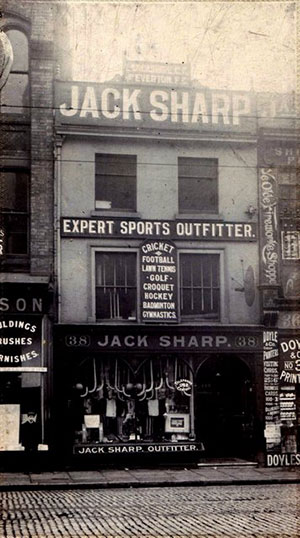 Jack Sharp's sports shop at Whitechapel in Liverpool