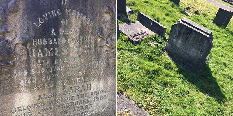 Jimmy Dunn's gravestone