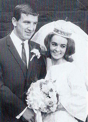 Johnny and Celia Morrissey on their wedding day