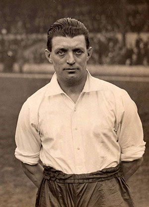 Tommy Johnson of Everton, 1933