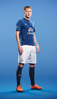 a7ce6d70c The home strip for next season is being revealed by Everton and it marks a  departure from the white trim that is usually synonymous with the Blues  ...