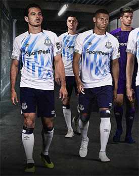 Everton will turn out at Vitality Stadium tomorrow in their new third kit  that was officially unveiled today. 842c56e3e