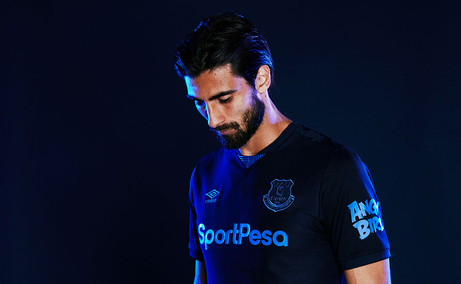 Everton launch new third strip