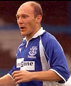 Thomas Gravesen: his first goal for Everton
