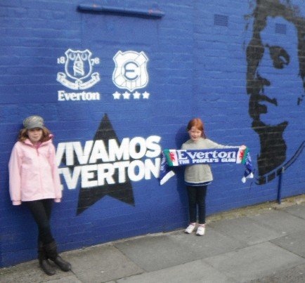 Sian and Ceri, supporting the Blues in May 2012
